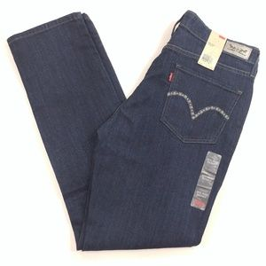 Levi's Women's Mid Rise Skinny Blue Jeans - 14M/32